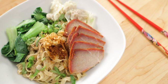 "Thai ""Dry"" Noodle Soup w/ Wontons & BBQ Pork Recipe บะหมี่แห้ง – Hot ..."
